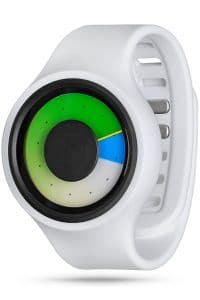 ZIIIRO Aurora Plus+ (Snow White & Colored) Interchangeable Watch - diagonal view