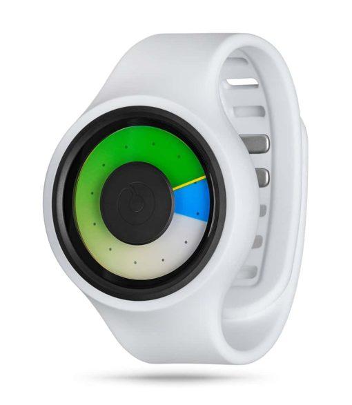 ZIIIRO Aurora Plus+ (Snow White & Colored) Interchangeable Watch - diagonal view