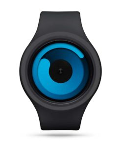 ZIIIRO Gravity Plus+ (Black & Ocean Blue) Interchangeable Watch - front view