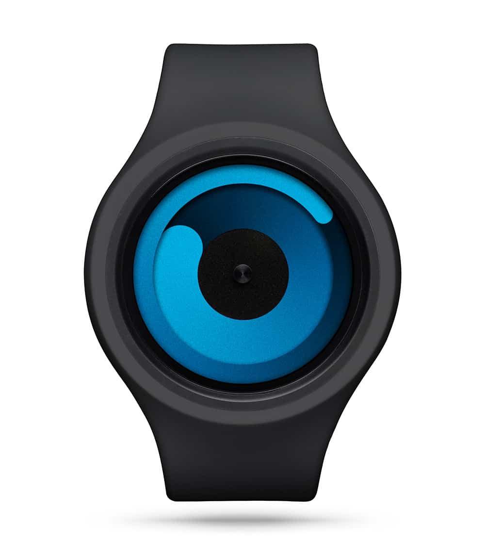 ZIIIRO Gravity Plus+ (Black & Ocean Blue) Interchangeable Watch - front view