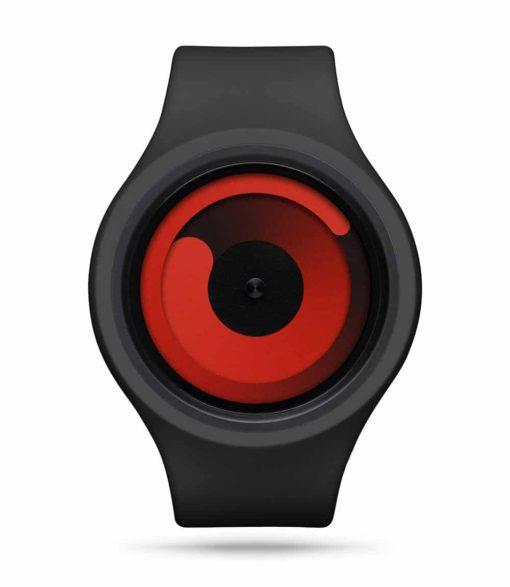 ZIIIRO Gravity Plus+ (Black & Red) Interchangeable Watch - front view