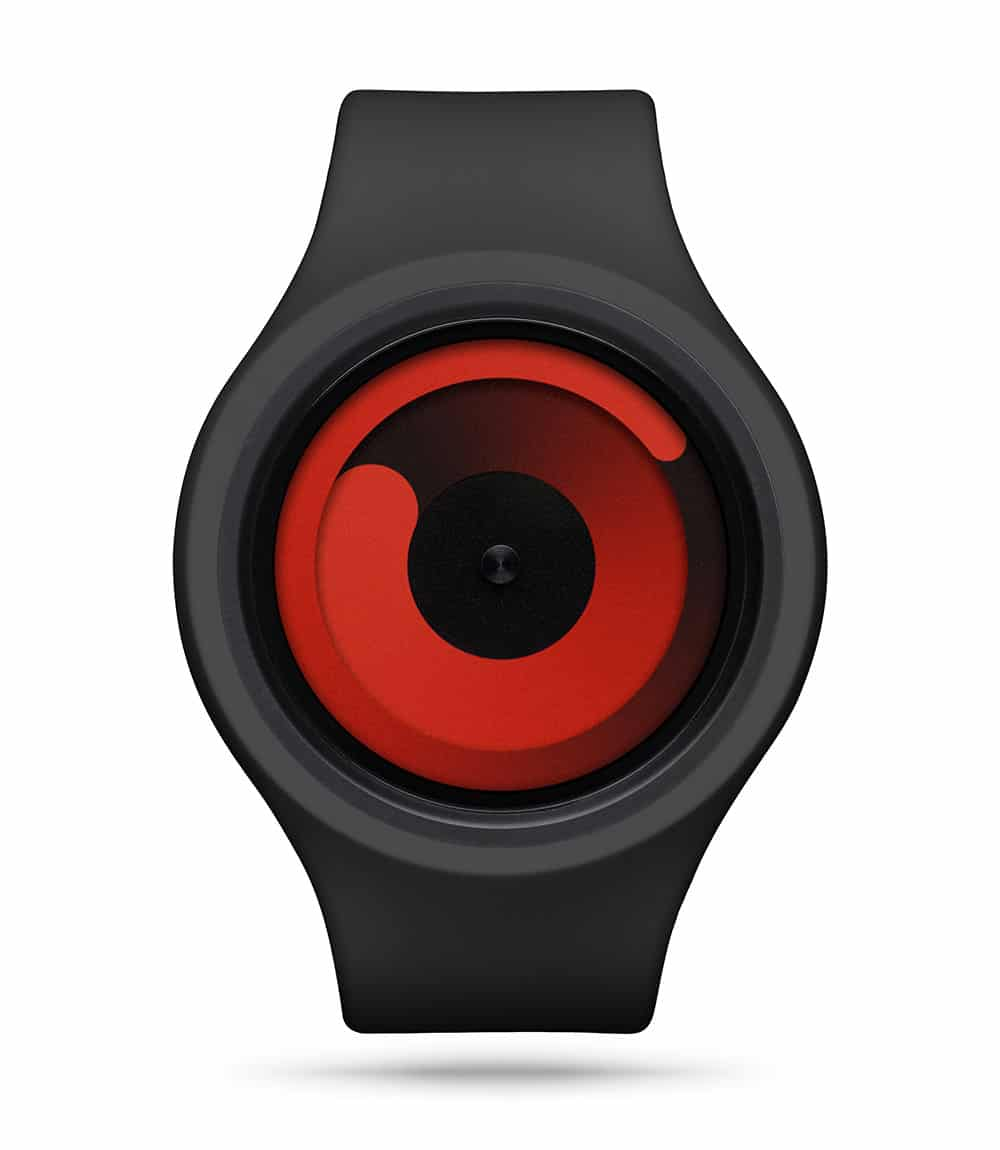 ZIIIRO Gravity Plus+ (Black & Red) Interchangeable Watch - front view