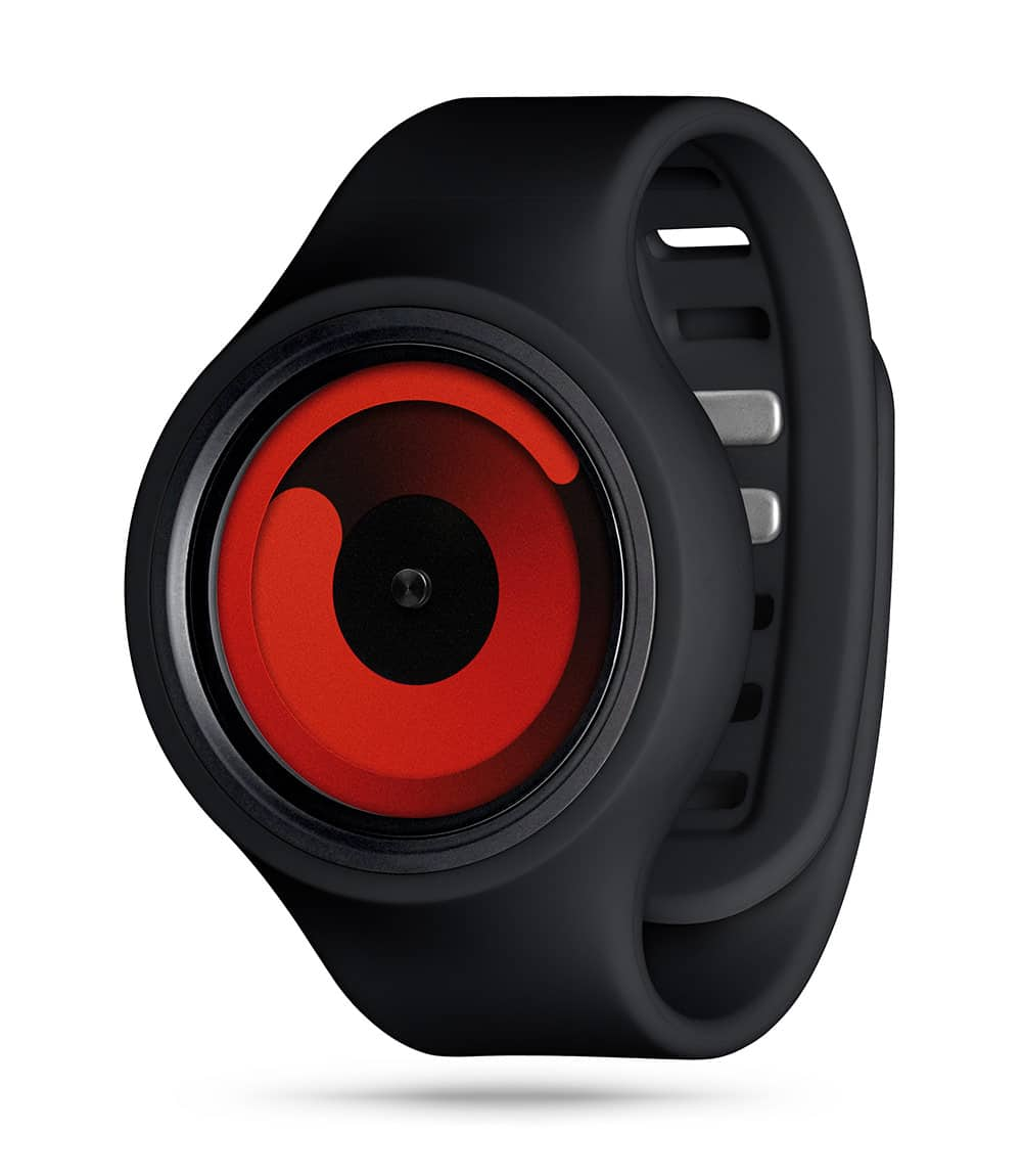 ZIIIRO Gravity Plus+ (Black & Red) Interchangeable Watch - diagonal view