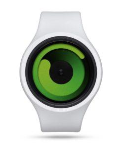 ZIIIRO Gravity Plus+ (Snow White & Green) Interchangeable Watch - front view