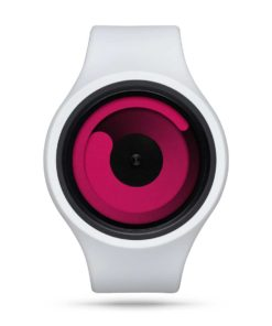 ZIIIRO Gravity Plus+ (Snow White & Magenta) Interchangeable Watch - front view