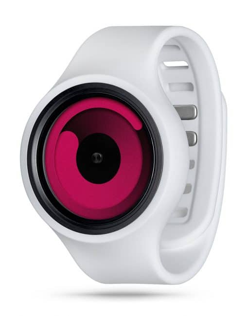 ZIIIRO Gravity Plus+ (Snow White & Magenta) Interchangeable Watch - diagonal view