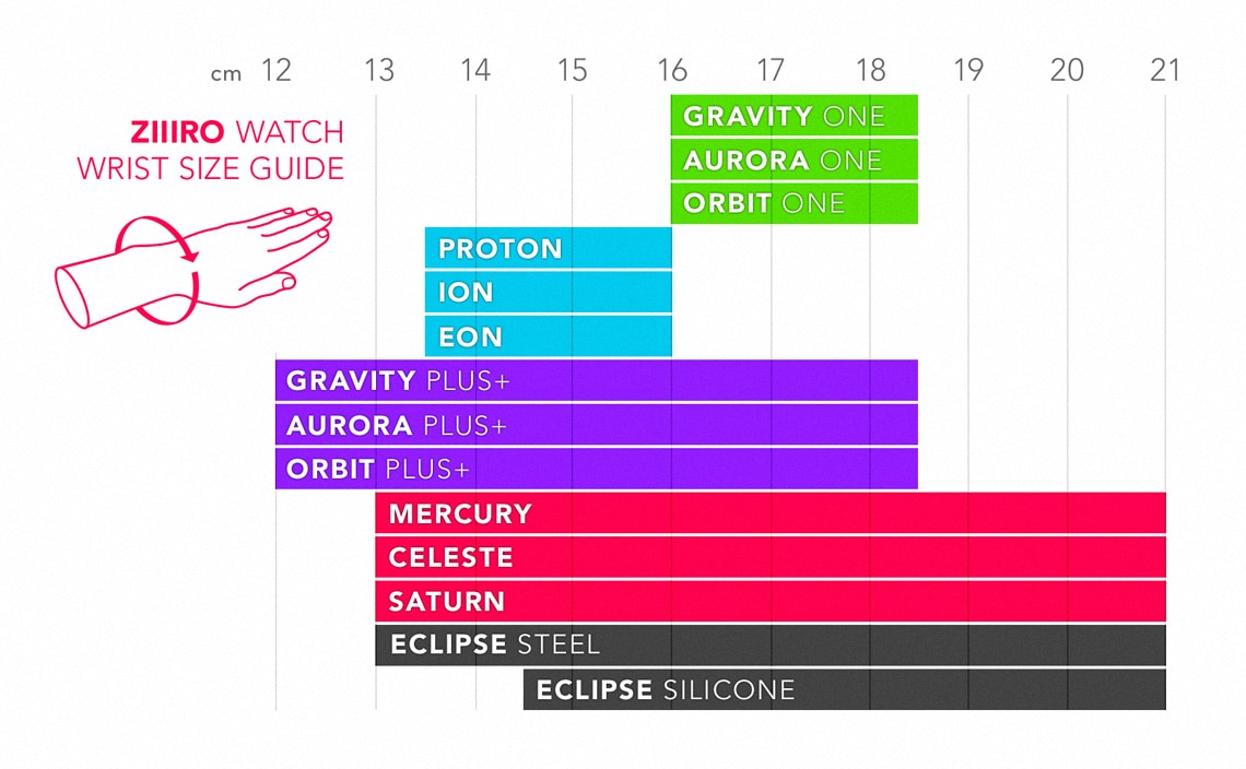Wrist Size Guide for ZIIIRO Watches