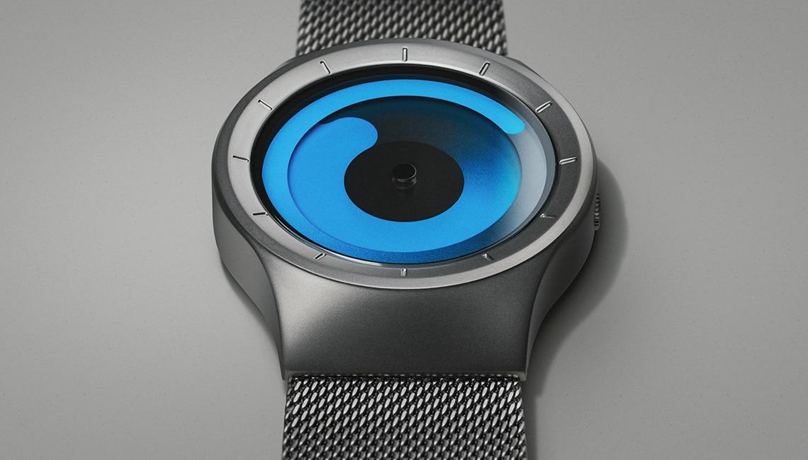 ZIIIRO Mercury (Gunmetal & Ocean Blue) Stainless Steel Watch - banner