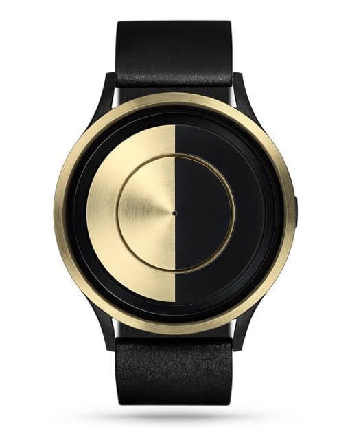 ziiiro-lunar-watch-black-leather-gold-front
