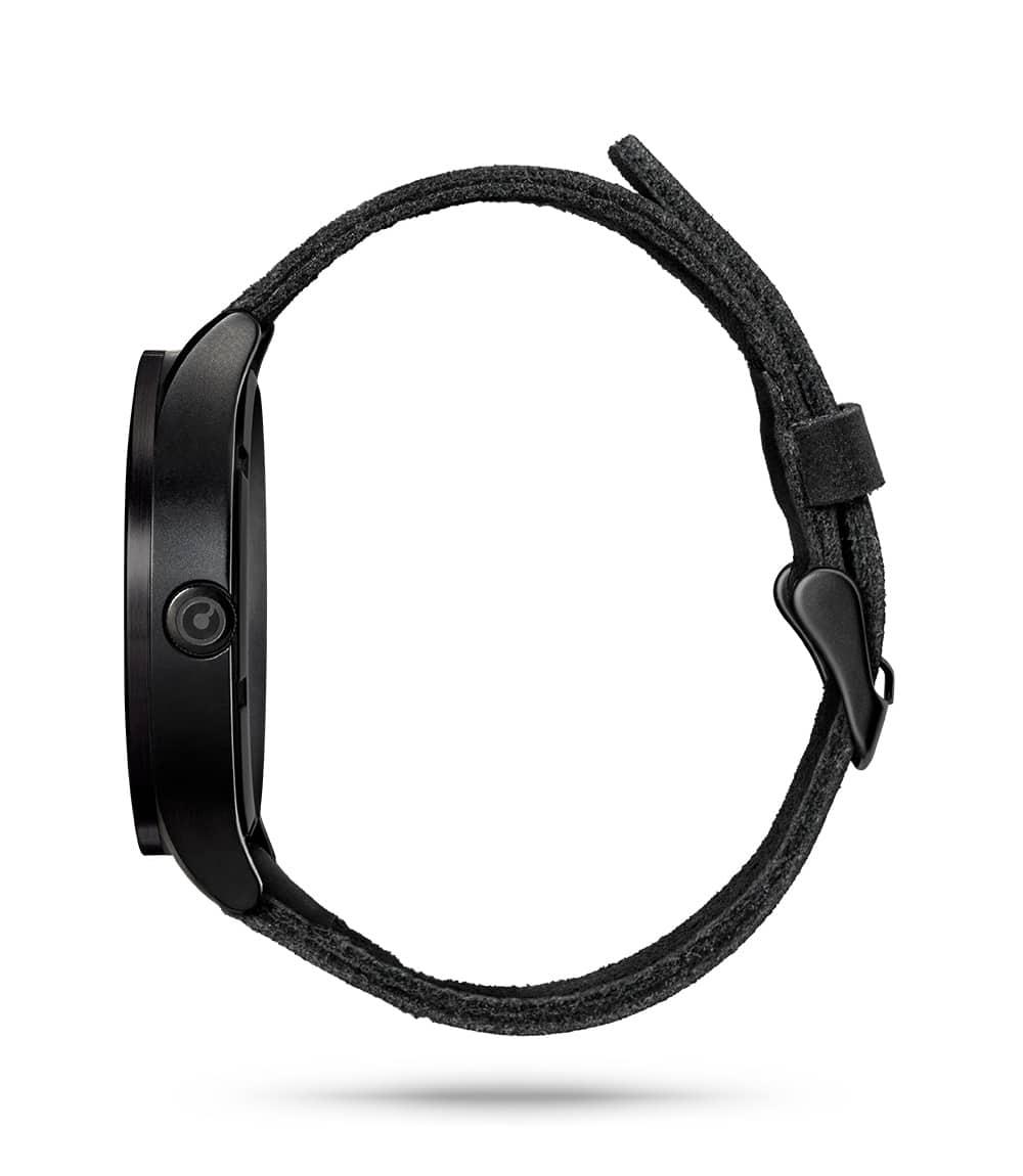 ZIIIRO Lunar (Black & White) Stainless Steel Watch - side view