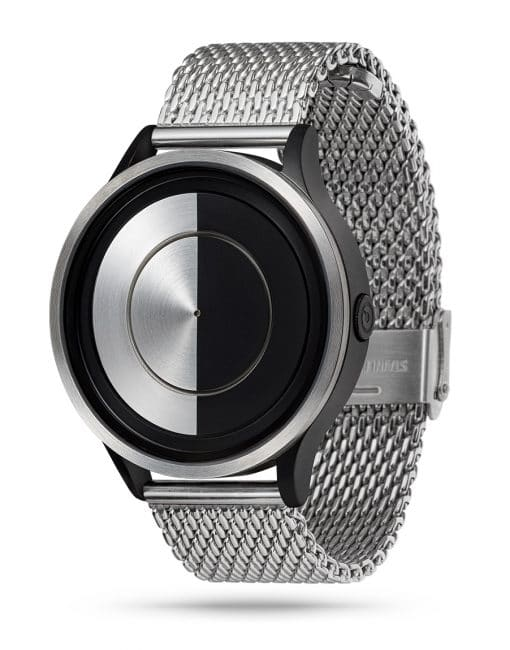 ZIIIRO Lunar (Steel) Stainless Steel Watch - diagonal view