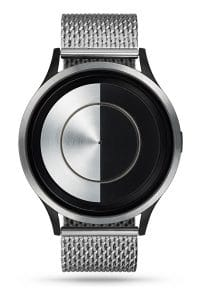 ZIIIRO Lunar (Steel) Stainless Steel Watch - front view