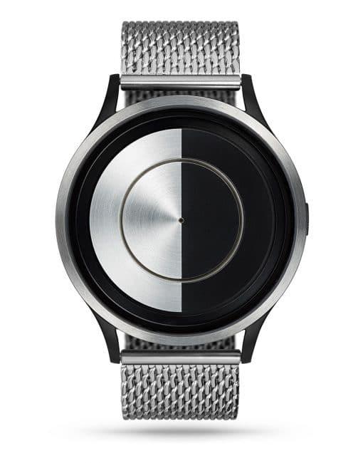 ziiiro-lunar-watch-chrome-milanese-chrome-front