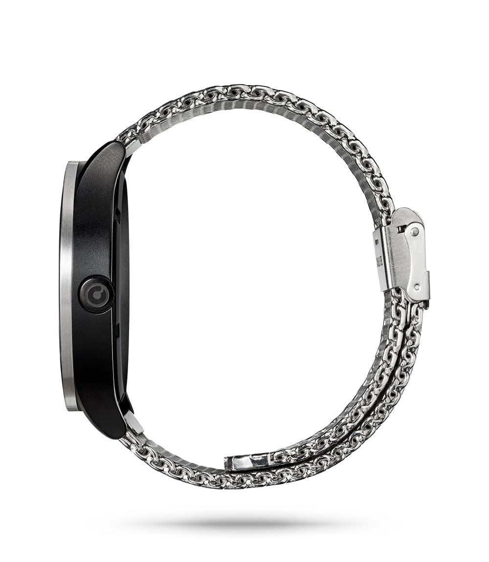 ZIIIRO Lunar (Steel) Stainless Steel Watch - side view