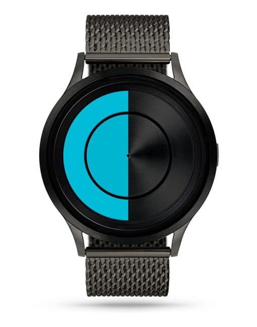 ziiiro-lunar-watch-gunmetal-milanese-ocean-blue-front